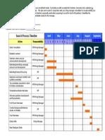 Recruitment Timeline Calendar Sample