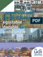 Projet des UDI Jeunes Paris pour les Régionales