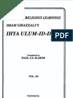 Ihya' 'Ulum Al-Din Vol 3