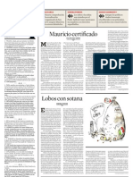 Editorial Lobos con sotana de Ximena Peredo