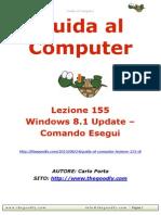 Guida al Computer - Lezione 155 - Windows 8.1 Update – Comando Esegui