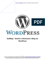 [eBook - ITA] Wordpress -GetBlog, Come Ottimizzare Il Proprio Blog Wordpress
