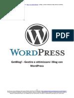 [eBook - ITA] Wordpress -GetBlog, Come Ottimizzare Il Proprio Blog Wordpress