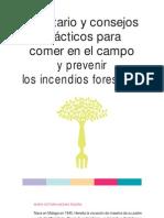 Recetario y consejos prácticos para comer en el campo y prevenir los incendios forestales