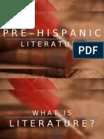 Pre Hispanic Literature
