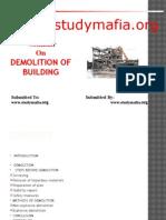 Civil Demolition of Building Ppt