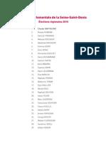 Liste Départementale de La SSD-VF