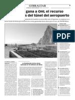 150710 La Verdad- El Gobierno Gana a OHL El Recurso Por Las Obras Del Túnel Del Aeropuerto