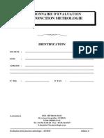 AFNOR Questionnaire Evaluation Fonction Metrologie