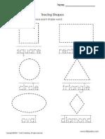 Tracing Shapes 1