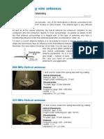 Helical Coating Wire Antennas Datasheet