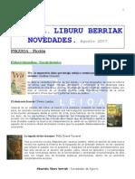 Abuztuko liburu berriak-Novedades de Agosto