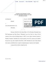 Stainbrook v. Lions Gate Entertainment et al - Document No. 2