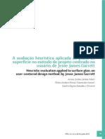 A AVALIAÇÃO HEURÍSTICA APLICADA AO PLANO DE SUPERFÍCIE NO MÉTODO DE PROJETO CENTRADO NO USUÁRIO, DE JESSE JAMES GARRETT