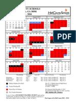 2015-16 Hall County Calendar
