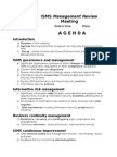 ISO27k ISMS Management Review Meeting Agenda