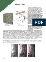 How a Roman Shade Folds