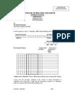 Internet Banking Form