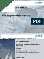 Siemens Top Mistakes
