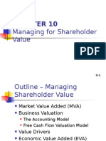 Ch 10 Managing for Shareholder Value
