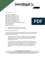 Laurelhurst Neighborhood Association letter to Portland Public Schools on high school redesign