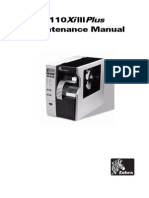 Zebra 110Xi3Plus Manual