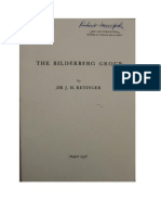 The Bilderberg Group - Retinger - August 1956