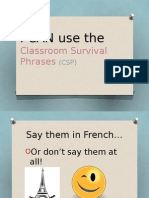classroom survival phrases ppt