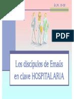 Discipulos de Emaus en Clave Hospitalaria