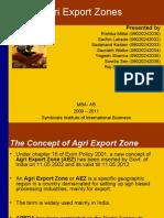 Agri Export Zones