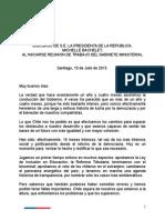 Discurso Reunión Gabinete Ministerial 10 de Julio