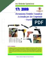 NEO-17 Herramientas Portátiles Neumáticas Accionadas Por Aire Comprimido – Requisitos de Segurida