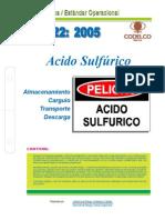 NEO-22 Acido Sulfúrico – Almacenamiento – Carguío – Transporte – Descarga.