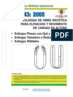 NEO-43 Eslingas de Fibra Sintética Para Elevacióny Movimiento de Cargas en Altura – Eslingas Plan