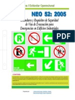 NEO-52 Estándares y Requisitos de Seguridad de Vías de Evacuación Para Emergencias en Edificios I