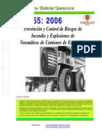 NEO-55 Prevención y Control de Riesgos de Incendio y Explosiones de Neumáticos de Camiones de Ext