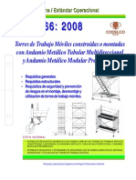 NEO-66 Torres de Trabajo Móviles Construidas o Montadas Con Andamio Metálico Tubular Multidirecci
