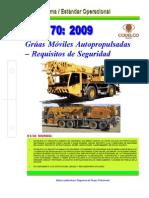 NEO-70 Grúas Móviles Autopropulsadas – Requisitos de Seguridad.