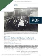 Os Anos Do Partido Nazista No Paraná - Entrevista Com Rafael Athaides - Gazeta Do Povo