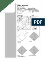 origami oso hormiguero