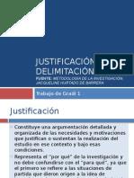 Justificación Delimitación