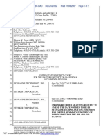 Synvasive Technology, Inc. v. Stryker Corporation - Document No. 32