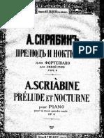 A. Scriabin Preludio Op. 9, Per La Mano Destra