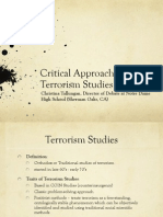 Critical Perspectives of Terrorism - UMich 2015 Tallungan