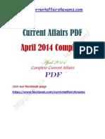 April 2014 Complete Current Affairs PDF