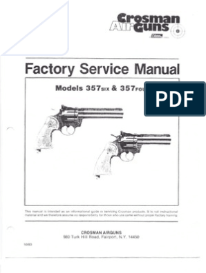 Crosman 357 Factory Service Manual