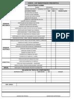 Check List Guilhotina