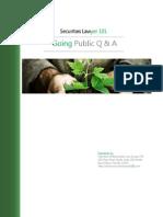 Going Public Q & A
