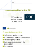 Presentation Hta Cooperation in the Eu Jerome Boehm