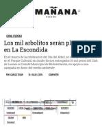 07-10-2015 Los Mil Arbolitos Serán Plantados en La Escondida